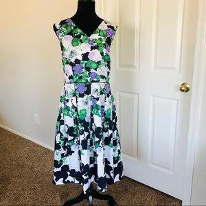 Talbots floral dress size 14